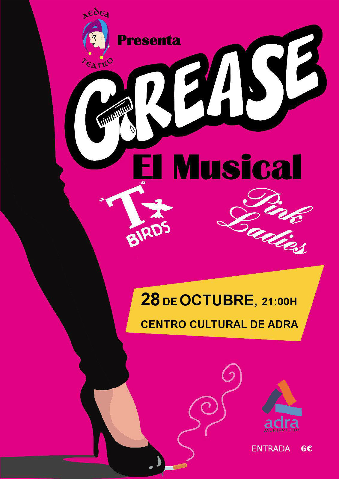 El Centro Cultural de Adra recibe el próximo 28 de octubre el musical de Grease