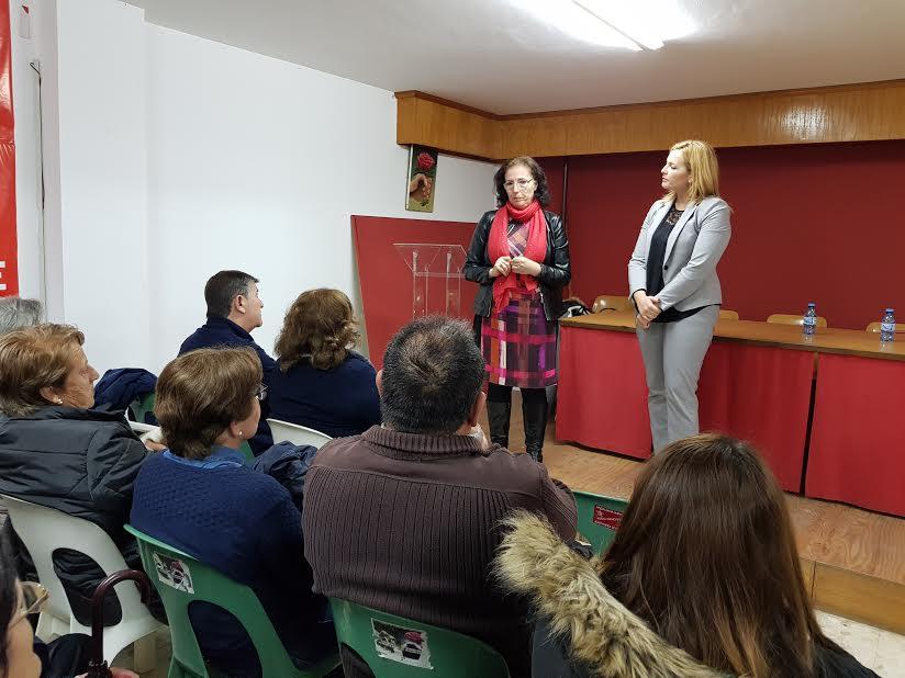El PSOE de Adra debate sobre la necesidad de unas pensiones dignas