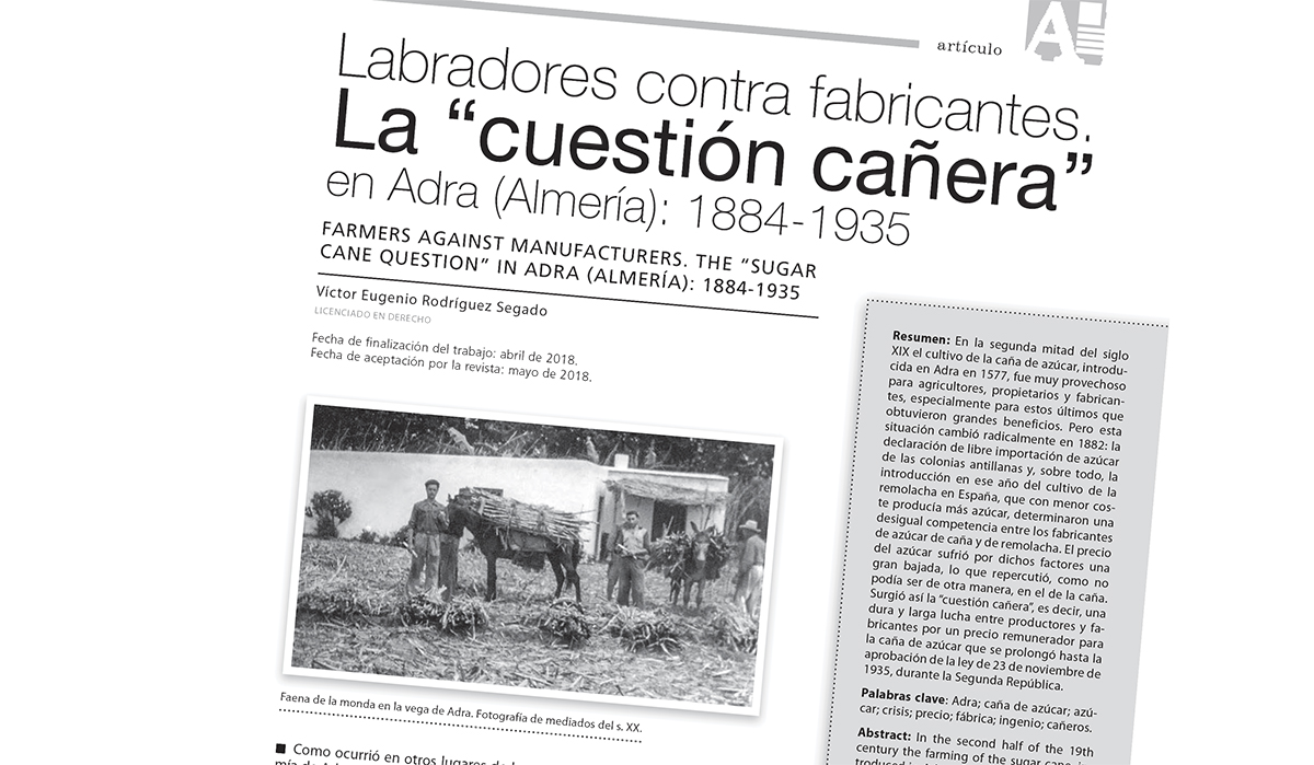 Adra, protagonista en tres artículos en el número 21 de la Revista de la Alpujarra FARUA