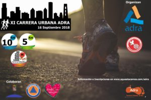 cartel carrera urbana Adra 2018