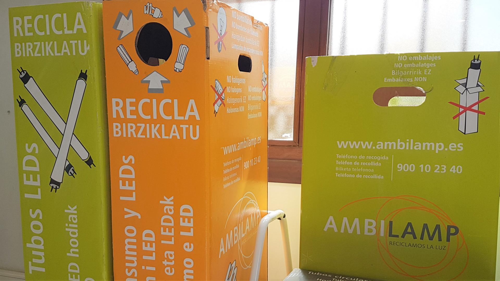 Punto de reciclaje bombillas LED