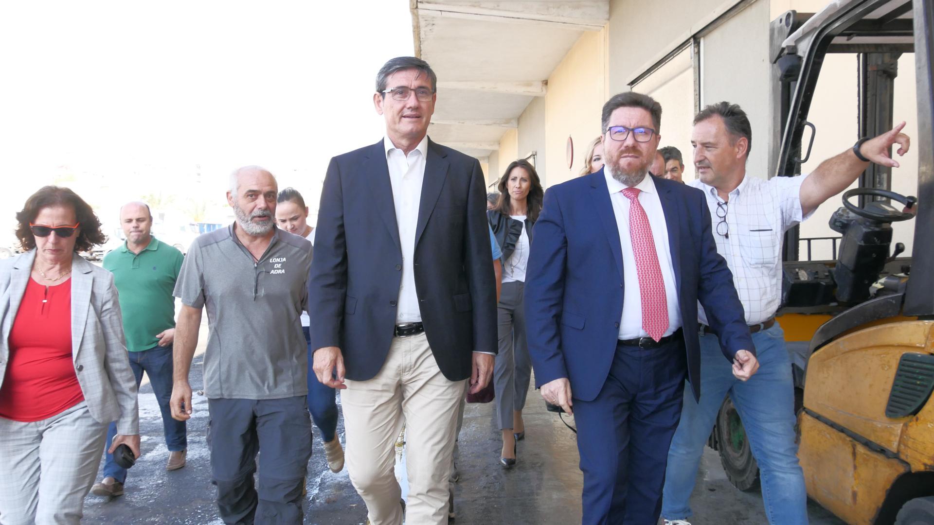Manuel Cortés muestra su satisfacción por el impulso al proyecto para hacer visitable la Lonja de Adra