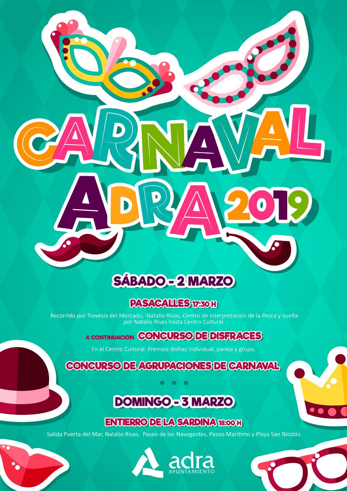 Cartel Carnaval de Adra 2019