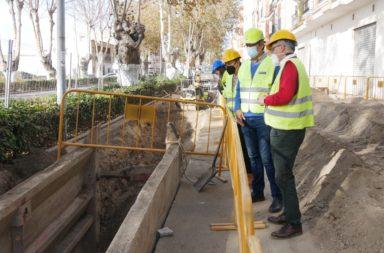 Adra Renovación colector saneamiento carretera de almeria