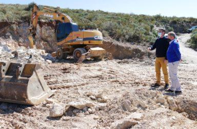 Avanzan las obras del depósito de agua en La Parra