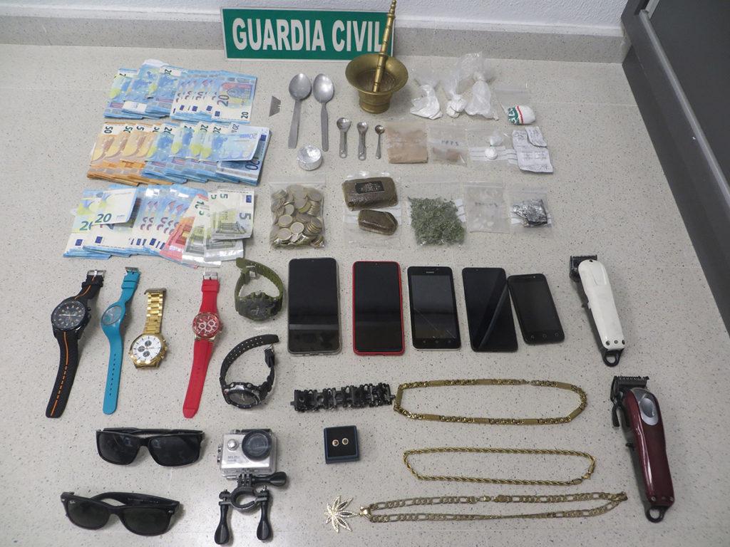 guardia civil trafico drogas y armas adra 2021