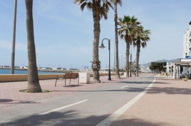 carril bici en adra paseo