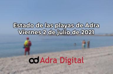 estado playas de adra 2 de julio 2021