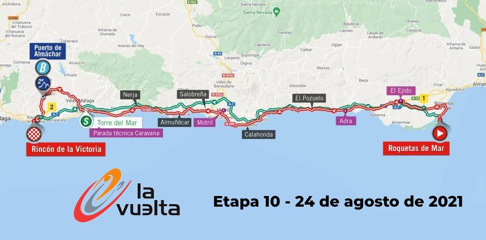 vuelta ciclista 2021 paso por Adra